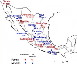 tipos de cerveza - cerveza mexicana - mapa cervecerias - femsa - grupo modelo